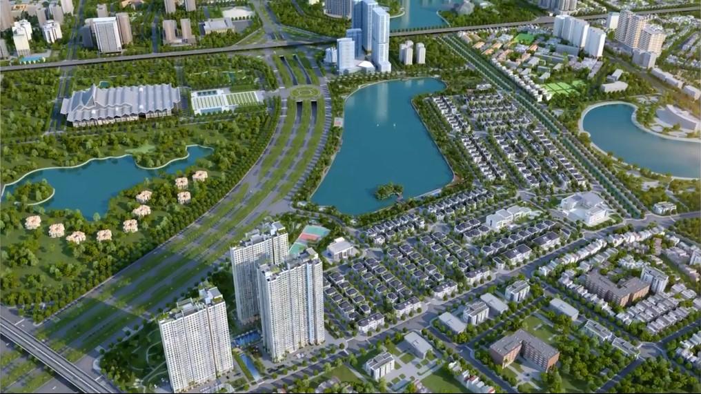 Phối cảnh dự án Vinhomes Green Bay