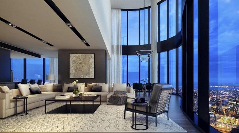 Sun Grand City Thụy Khuê - Phòng khách Penthouse
